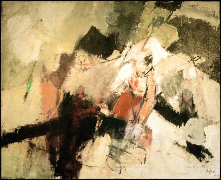 Afro, (Udine, 1912 – Zurigo, 1976), Testa di ponte, 1961, Olio su tela / Öl auf Leinwand, 131 x 162 cm
