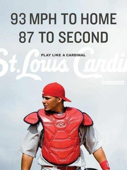 Yadier Molina. Play like a Cardinal