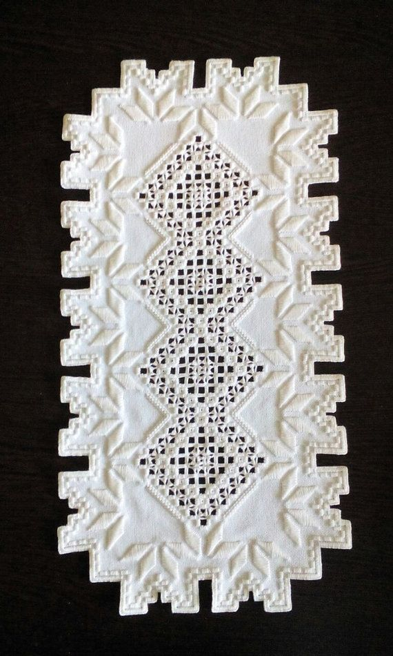 Hardanger doily 2 by handiwoork on Etsy