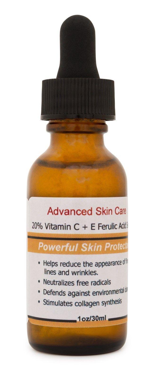 The best Vitamin C Serum 20 CE Ferulic acid  Brightening Wrinkle AntiOxidant