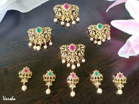 Wedding Hair Accessory|Indian Bridal Hair Jewelry|South Indian Wedding Jewellery| Hair Choti| Jada B