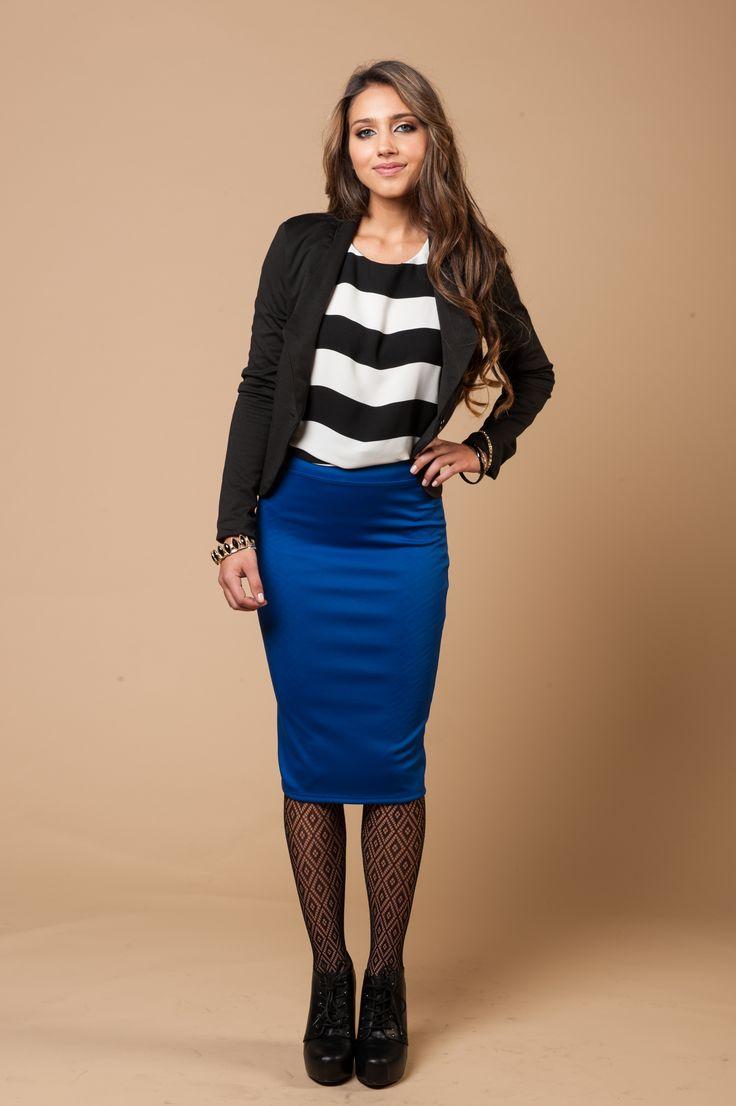 More cobalt blue! Skirt $9.99 <3