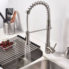 Modern Mixer Tap Spring Single Lever Pull Out Spray Kitchen Bathroom Faucet New