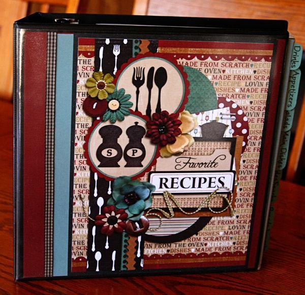 Cookbook Covers Diy : Images about scrapbook cookbook on pinterest