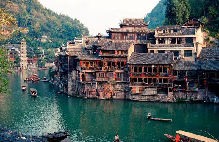 Древний городок Фэнхуан. Китай.
