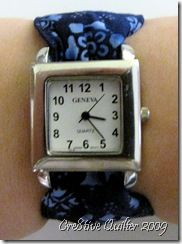 Easy and Versatile Fabric Watch Band tutorial