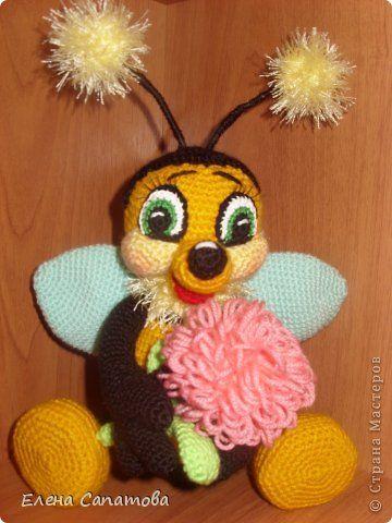 Игрушка Мастер-класс 8 марта Вязание крючком Пчёлка Пряжа фото 1