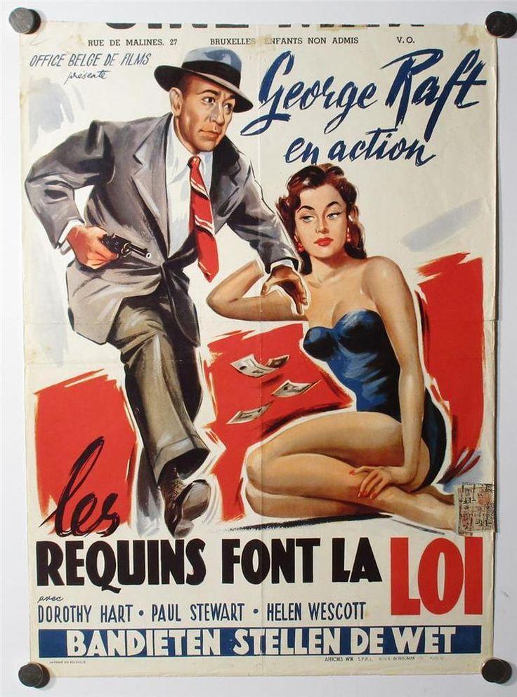 TOUGH GUY GEORGE RAFT DOROTHY HART GGA LOAN SHARK FILM NOIR MOVIE POSTER 1952 in Entertainment Memorabilia, Movie Memorabilia, Posters | eBay