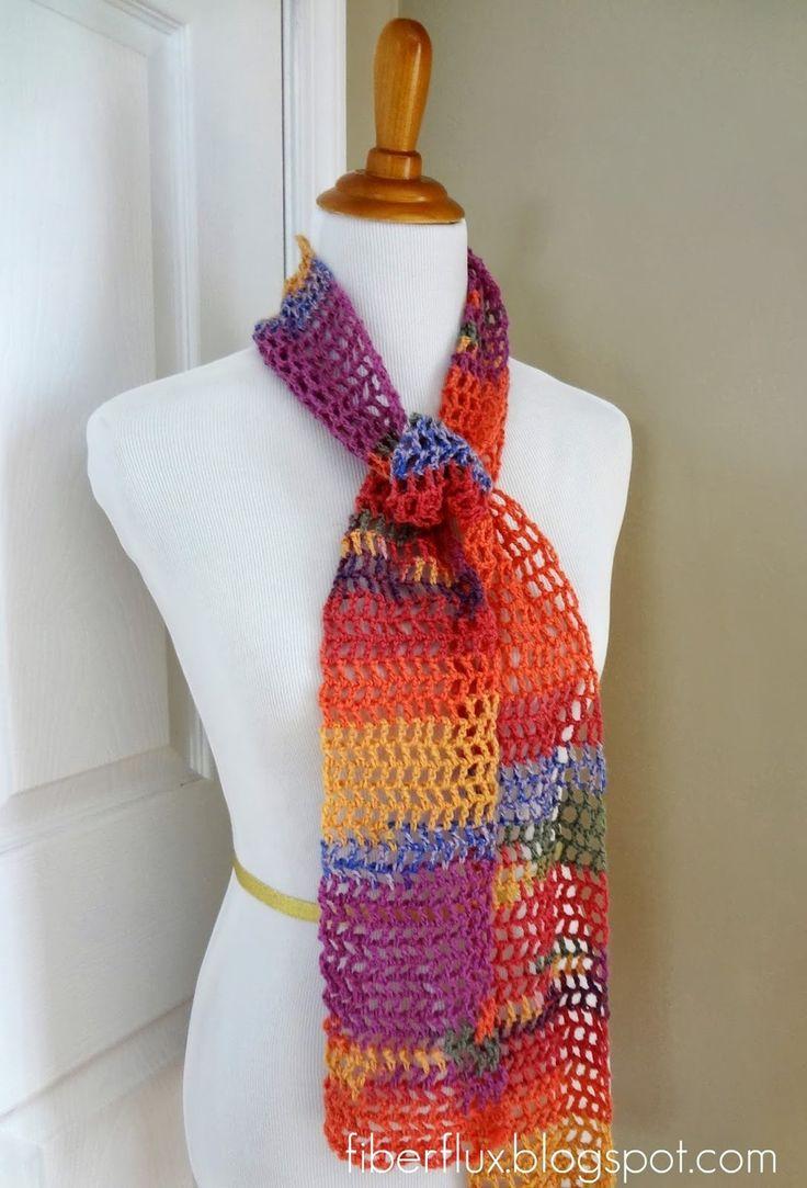 Free Crochet Patterns For Thin Yarn : 17 Best ideas about Crochet Scarf Patterns on Pinterest ...