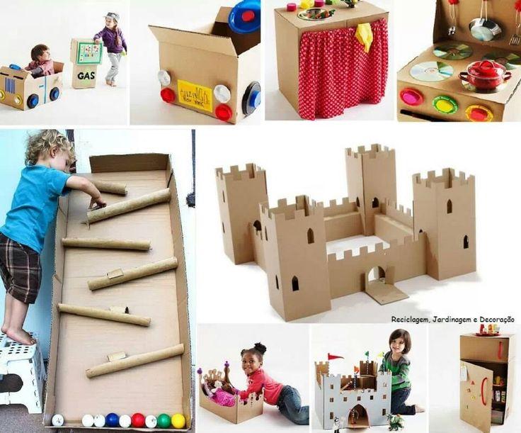 Juguetes para niños hechos con cartón