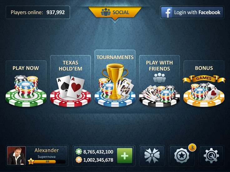 Poker Ui Blue