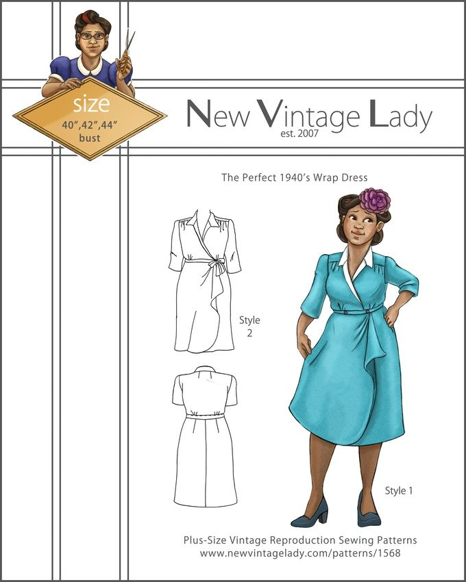New Vintage Lady Multi-size reproduction sewing patterns for the plus size woman.