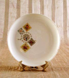 5 Taylor Smith and Taylor Brocatelle Bread Plates Ever Yours
