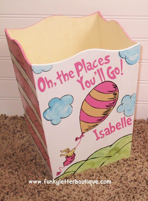 Dr  Seuss Oh The Places You  39 ll Go Wastebasket. 78  images about Dr  Seuss Cat In The Hat Nursery  Bathroom  Play