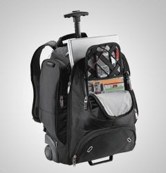 The PERFECT wheelie bag for the business traveller.  Carry-on size with a specially designed fold out section so you don't have to remove your laptop. Love it.