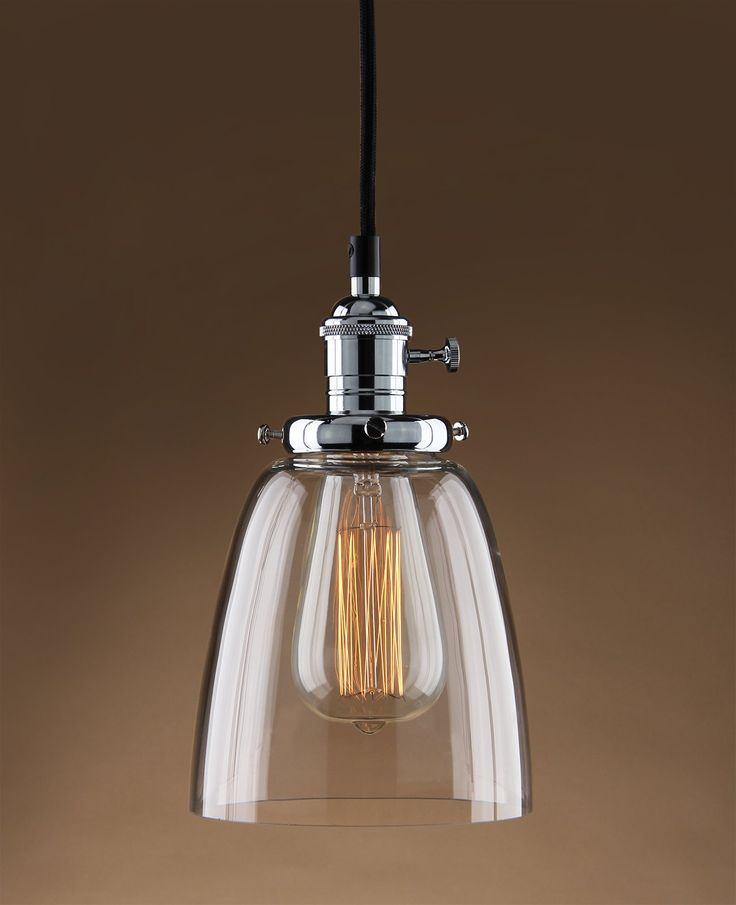 amazoncom permo vintage one light pendant mini cone clear glass ceiling hanging