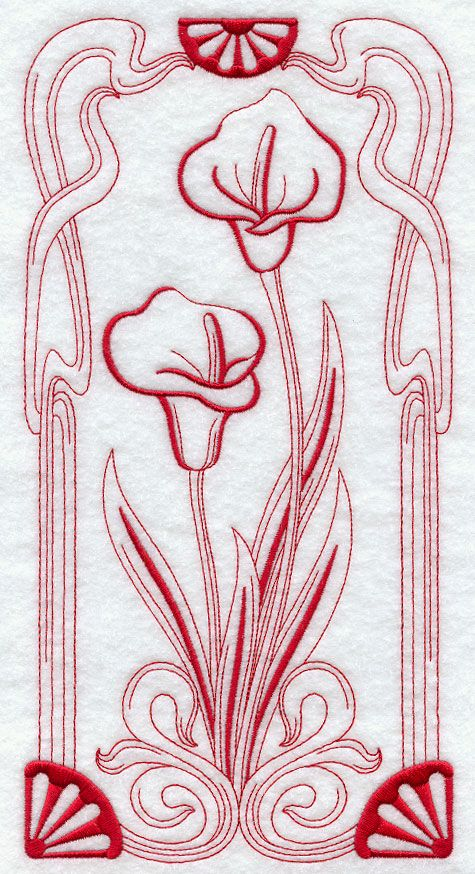 Machine Embroidery Designs at Embroidery Library! - Art Nouveau ...