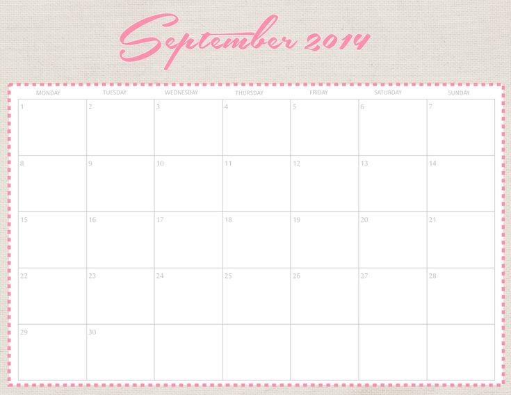 september 2014 calendar printable