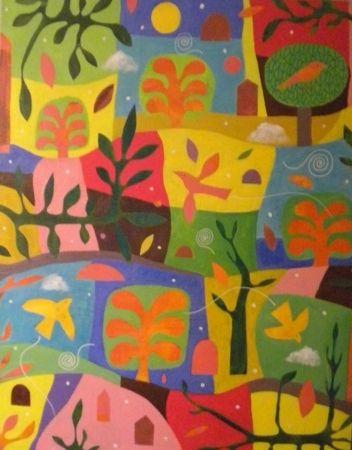 Mark  Warren  Natural Rhythm - 2013   Acrylic on canvas   137 x 107 cm