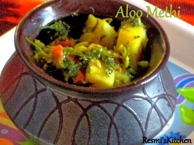 Resmi's kitchen: ALOO METHI