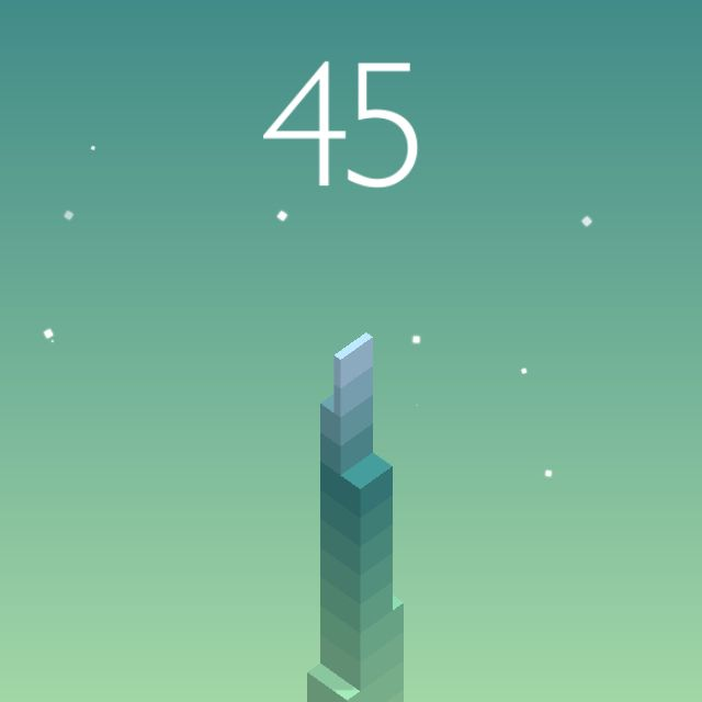 I scored 45 points in #Stack https://itunes.apple.com/app/stack/id1080487957