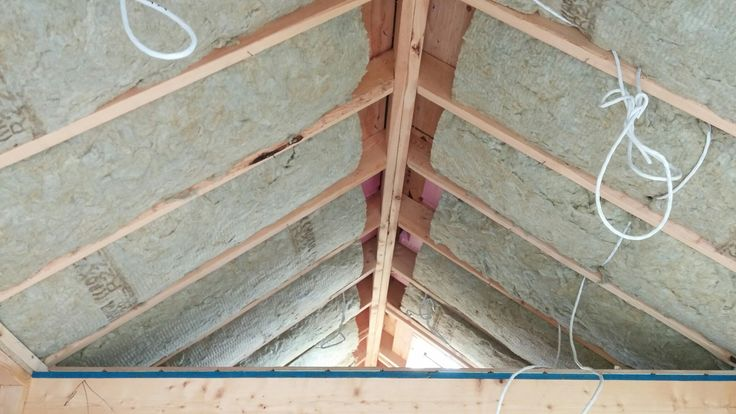Day 40 - insulation in ceilings begins