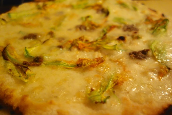 pizza fiori di zucca pizzeria alle carrette