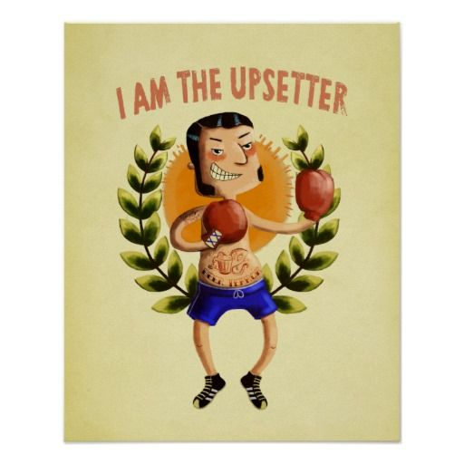 """Some time ago it was possible to download this """"The Upsetter"""" illustration in hires (good quality to print). if you missed this oppurtunity, you can buy this poster on Zazzle:)"""
