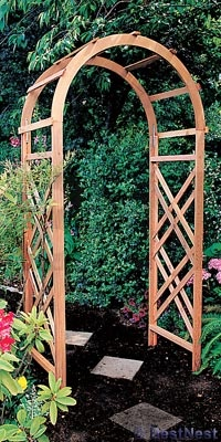 arbor- I like the side pattern of the wood.