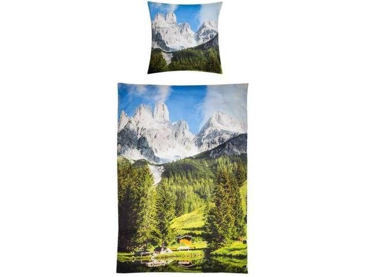 Kinzler Satin Bettwasche Berglandschaft 135x200 Cm Mit