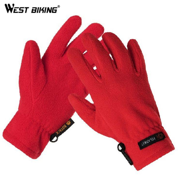 WEST BIKING Women Men Outdoor Fleece Thermal Luvas Bicycle Bike Cycling Gloves Winter Warm Mittens Fitness Luavas For Men