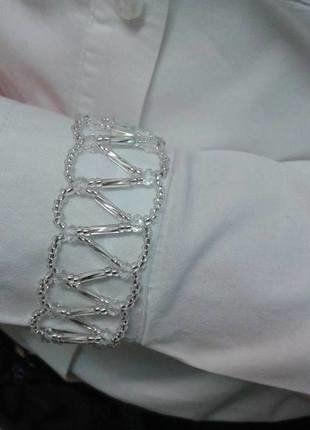 Kup mój przedmiot na #vintedpl http://www.vinted.pl/akcesoria/bizuteria/16691502-bransoletka-z-koralikow-szeroka-biala