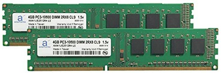 Adamanta 8GB (2x4GB) Desktop Memory Upgrade for Acer Aspire M3985-011 DDR3 1333 PC3-10600 DIMM 2Rx8 CL9 1.5v Notebook RAM - Brought to you by Avarsha.com