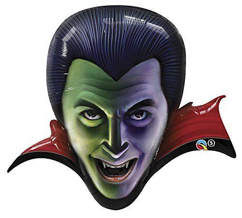 36 Count Dracula Helium Shape Qualatex Balloons by Qualatex @ niftywarehouse.com #NiftyWarehouse #Dracula #Vampires #ClassicHorrorMovies #Horror #Movies #Halloween #Vampire