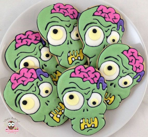 Zombie Cookies by Whoosbakery on Etsy