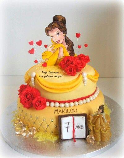 La belle et la bête . Beauty and the beast cake. Créé par : les gateaux d Ingrid ( facebook)