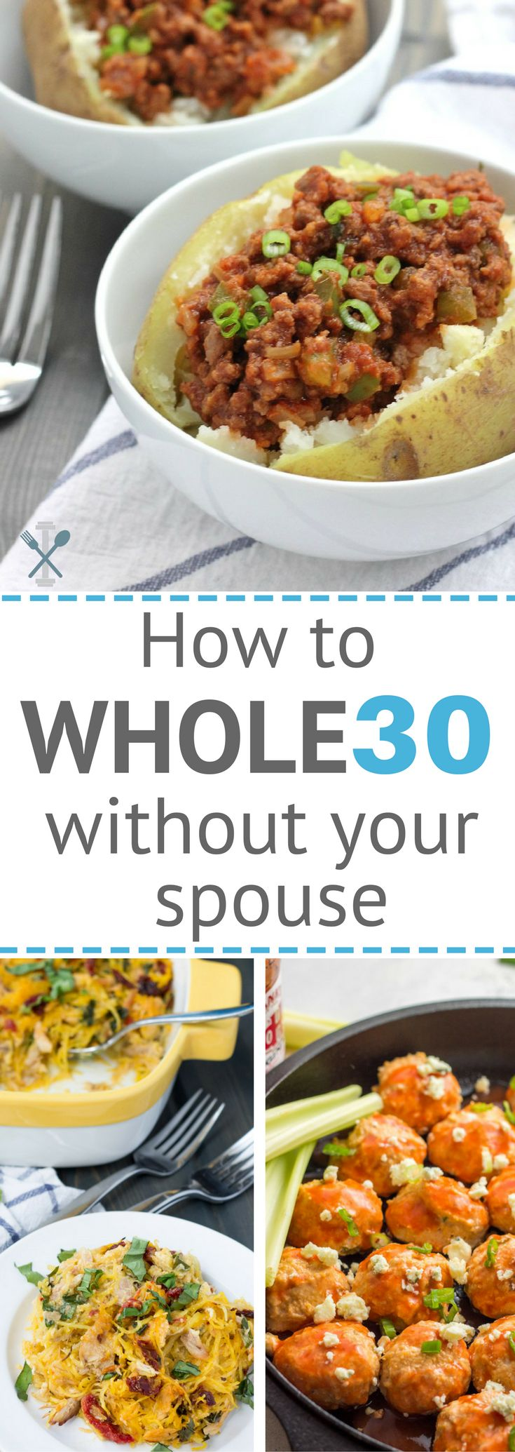 How to do a Whole30 challenge when your spouse won't! A helpful guide on completing a Whole30 when your family isn't on board.