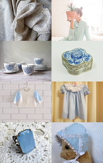 'vintage blue and white' --Pinned with TreasuryPin.com