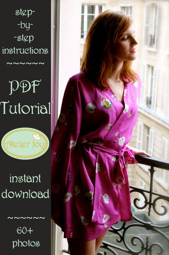Robe Pattern  french seams finishing included  PDF by AtelierJoy