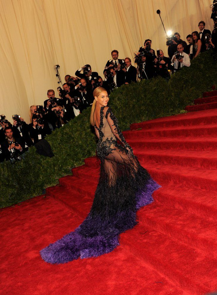Pin for Later: Kim Kardashian Suggests Her Met Gala Dress Had Nothing to Do With Beyoncé Beyoncé's Givenchy Dress at the Met Gala in 2012