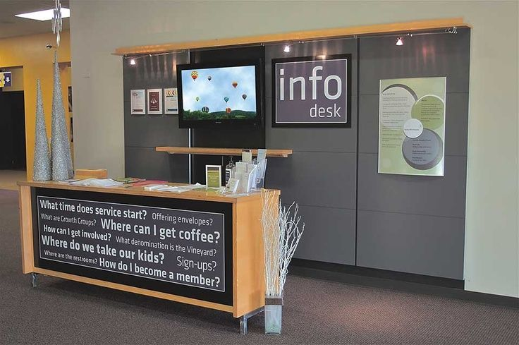 Spectacular Example Of A Simple Stater Visitor Desk Church Lobby Welcome Center Pinterest