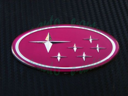 start logo subaru grill badge emblem sticker for 02 05 wrx