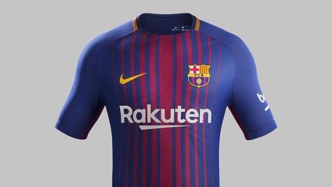 2017-2018 Primera equipació F.C. Barcelona Primera amb Rakuten