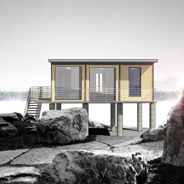 quick renderings of one of our 4 shipping container homes available this summer across north