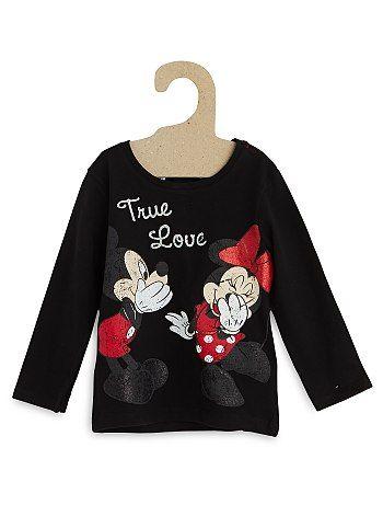 Tee-shirt 'Disney' Petite fille 6,00€ T-shirt manches longues Les imprimés 'Disney' c'est branché ! - Tee-shirt pur coton - Manches longues - Col rond - Ouverture 3 b