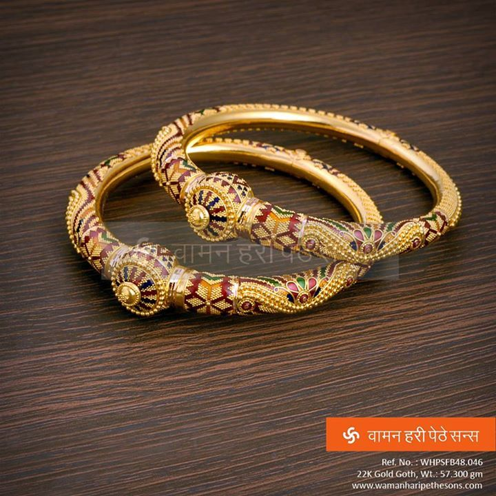 #Traditionally #Stylish #Gold #Goth that you will love to wear.     Explore more here : http://bit.ly/1lTvaR5  #jewellerycollection #Indianjewellery #jewellerylove #goldbangles #traditionaljewellery #goldjewellery #ethnic #stylestatement