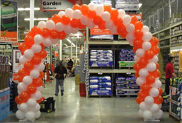 Home depot grand opening balloon arch balloon decor for How to make balloon arch at home