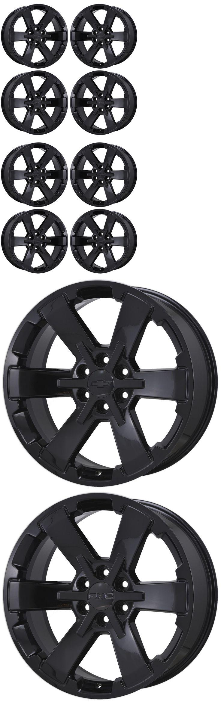 Auto parts general 22 gm sierra silverado 1500 black wheels rims factory oem set