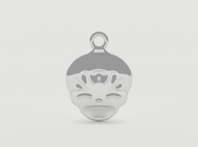 Smiling Child - head - Design for pendant/earring  by vanca - 3D printed jewelry