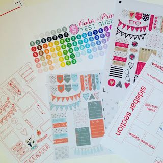 How To Make Your Own Planner Stickers With Silhouette Cameo Includes Free Templates And Sticker Sets 3 Tutorials Pinterest
